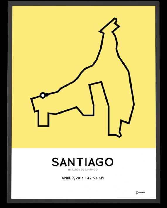 2013 maraton de santiago course poster