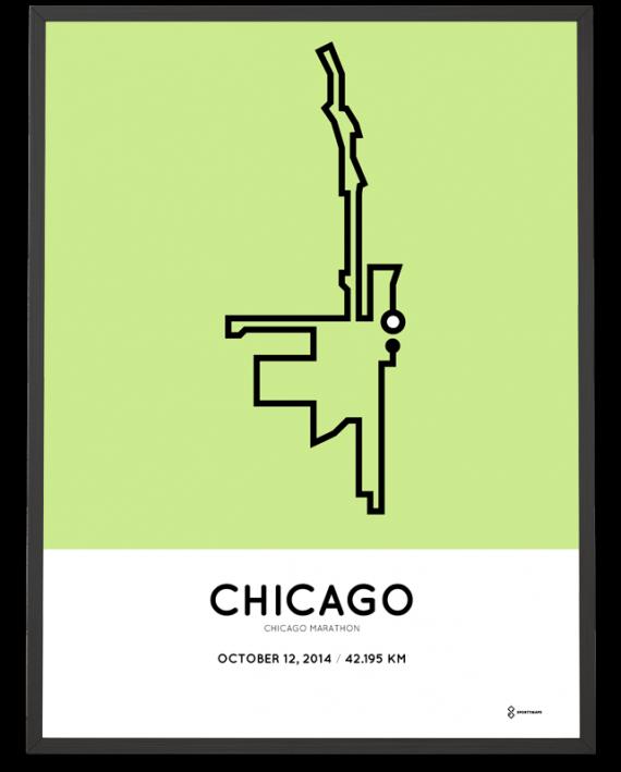 2014 chicago marathon course print