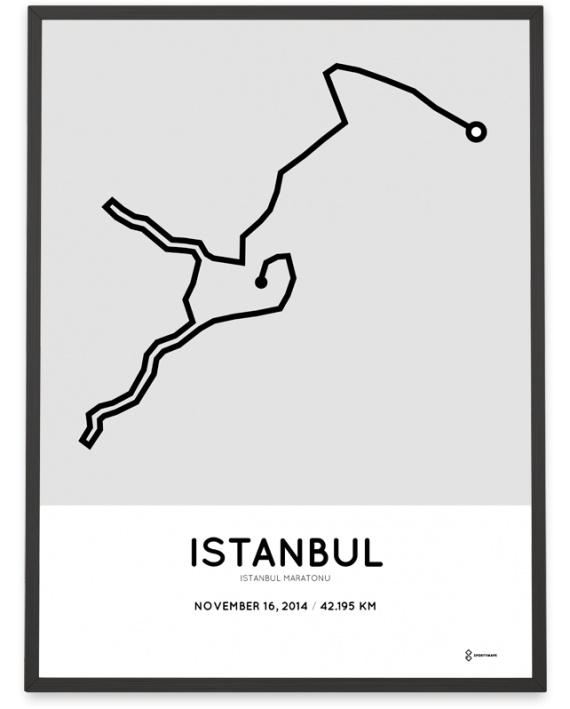 2014 Istanbul maratonu course poster