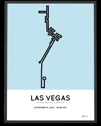 2014 Las Vegas marathon course poster