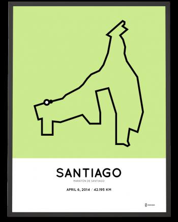 2014 santiago marathon course print