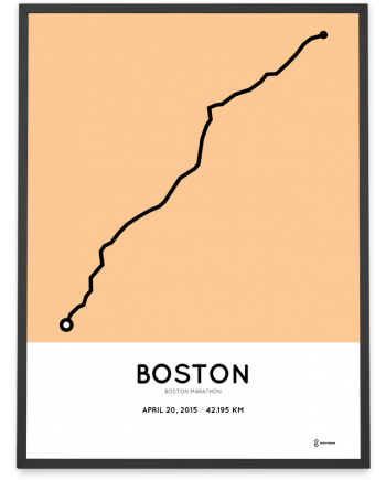 2015 boston marathon course poster