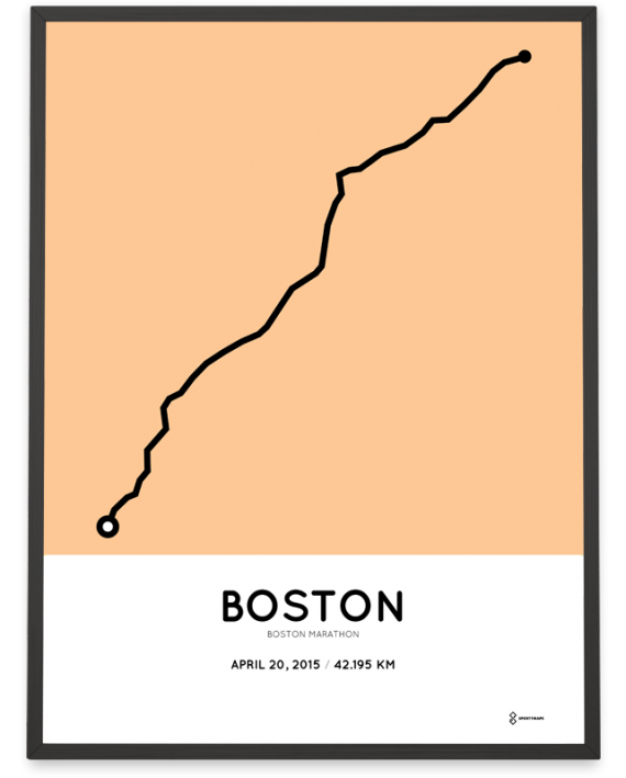 2015 boston marathon course poster