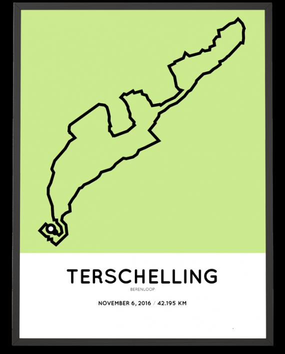 2016 berenloop Terschelling parcours poster