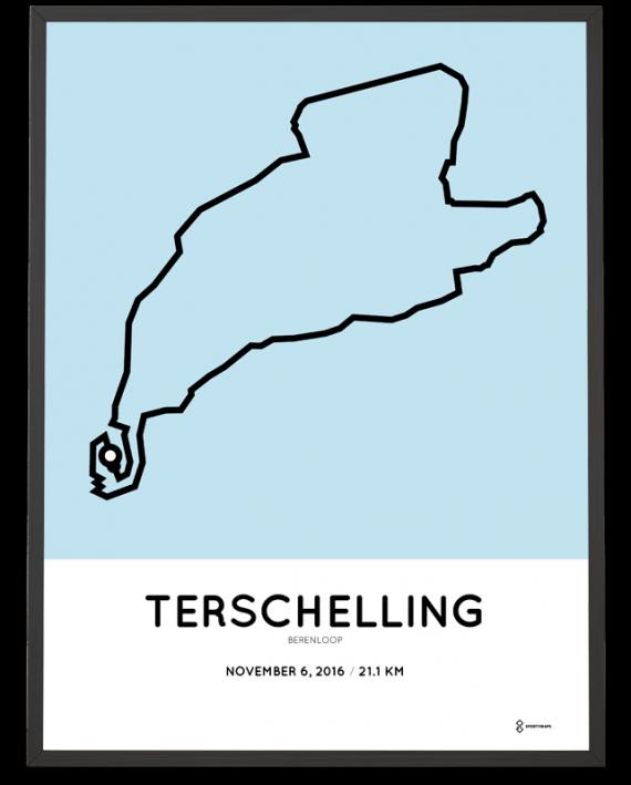 2016 berenloop halve marathon route poster