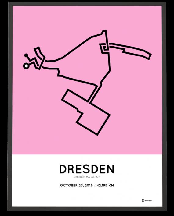 2016 dresden marathon course poster