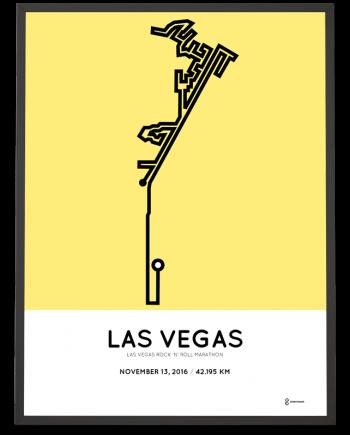 2016 las vega marathon course poster