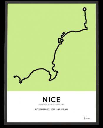 2016 nice marathon course poster