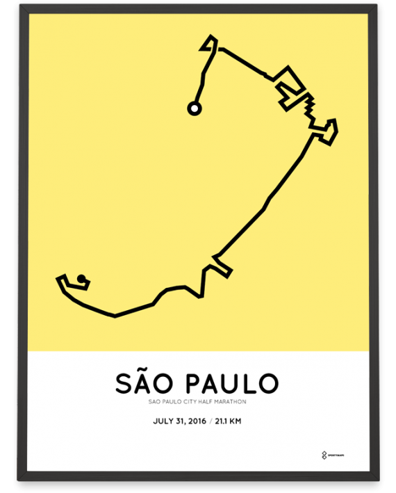 2016 sao paulo city half marathon course poster