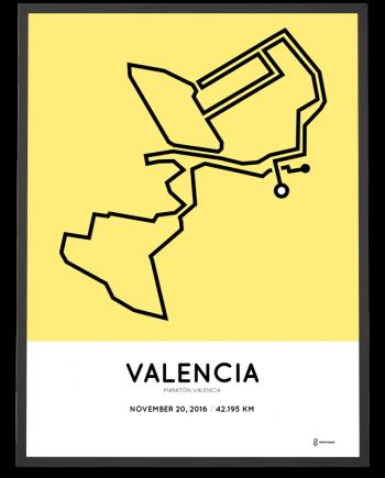 2016 valencia marathon course poster