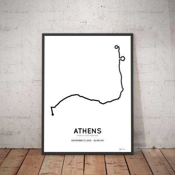 2016 athens authentic marathon course print