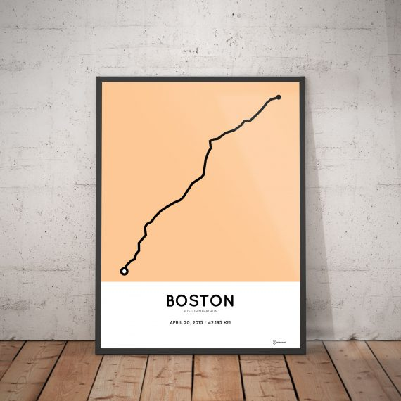 2013 boston marathon route print