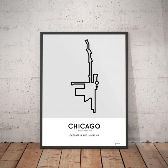 2013 chicago marathon course poster