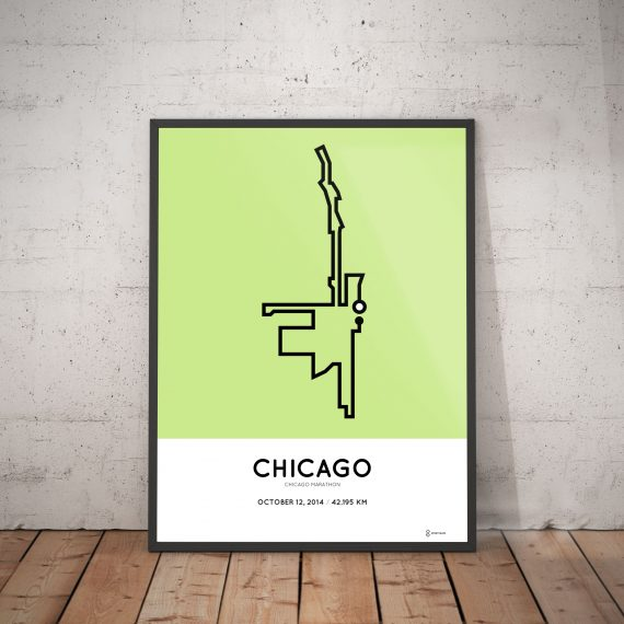 2014 chicago marathon parcours print