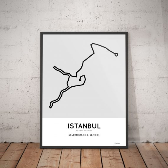 2014 Istanbul marathon course print