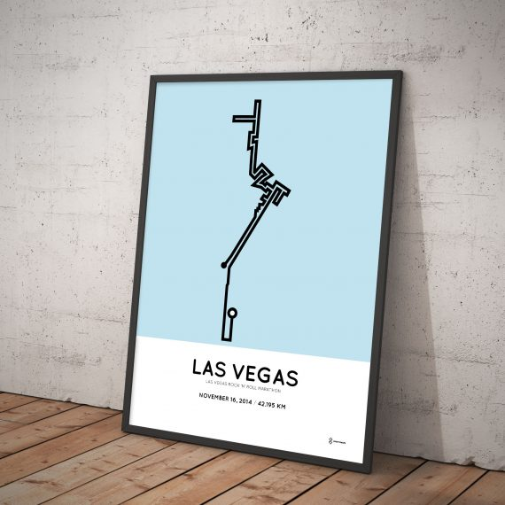 2014 Las vegas marathon minimal course art print