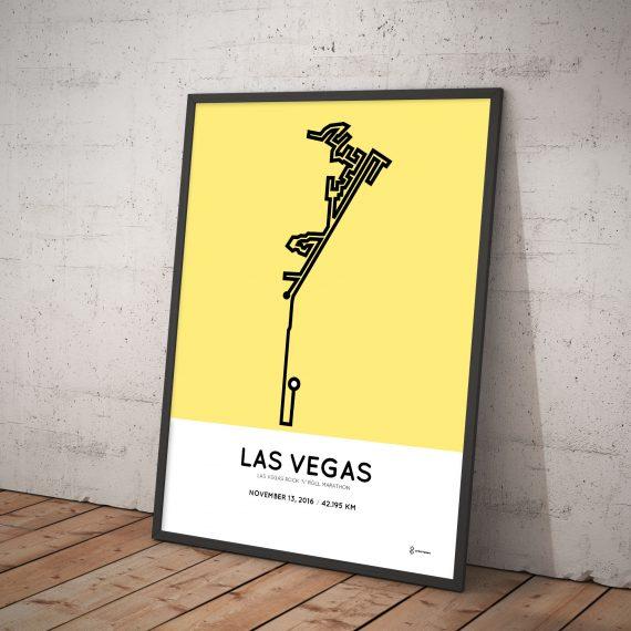 2016 las vegas marathon course print