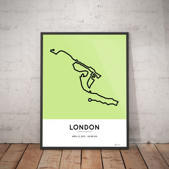 2013 london marathon course poster