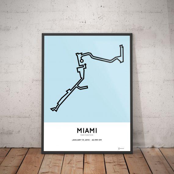 2010 miami marathon route print