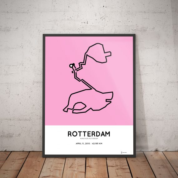 2010 rotterdam marathon route print