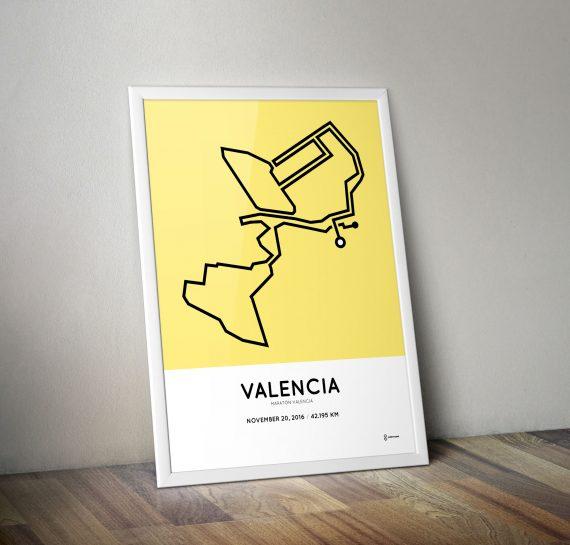 2016 marato valencia course poster