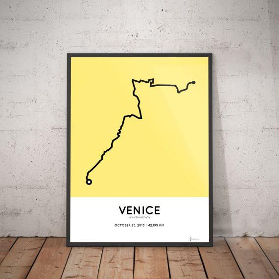 2015 venice marathon course artprint