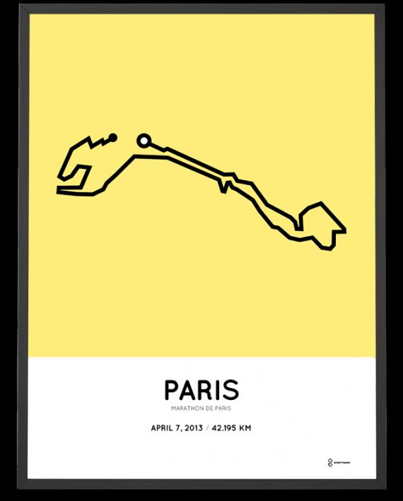 2013 Marathon de Paris parcourse print