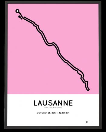 2014 Lausanne marathon course poster