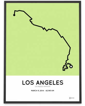 2014 Los Angeles marathon course poster