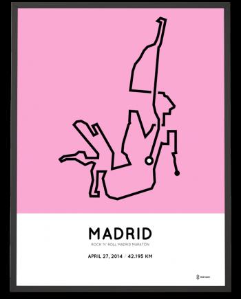2014 madrid marathon course poster