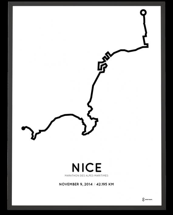 2014 Nice marathon course poster