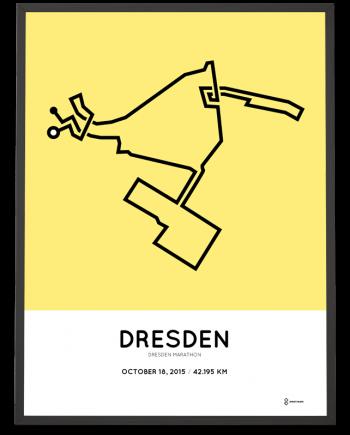 2015 dresden marathon route print