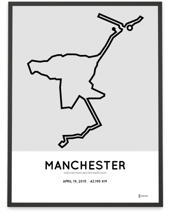 2015 greater manchester marathon course poster