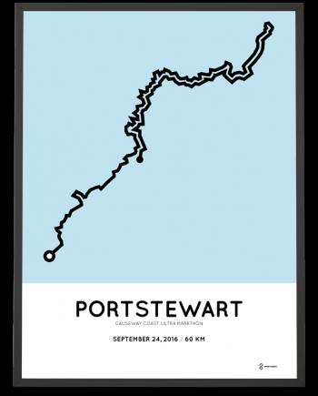 2016 causeway coast ultra marathon course poster
