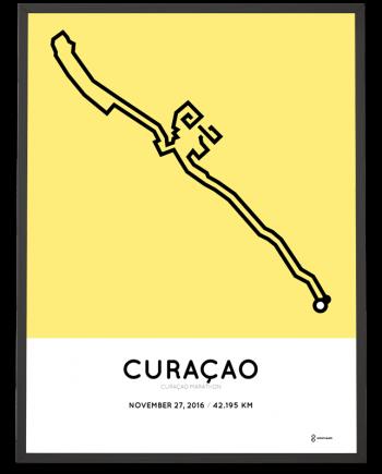 2016 curacao marathon course poster