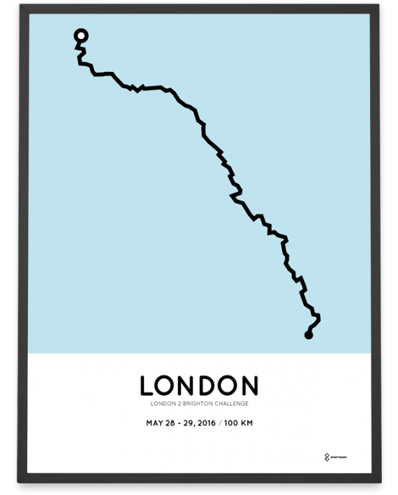 2016 London 2 Brighton course poster