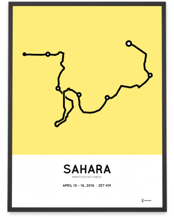 2016 Marathon des Sables course print