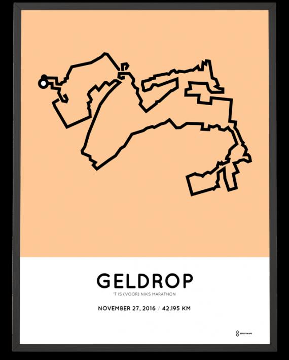 2016 t is voor niks marathon Geldrop cours print
