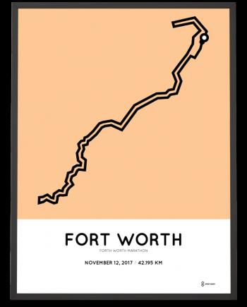 2017 Fort Worth marathon course poster