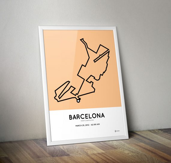 2012 Marato de Barcelona course print