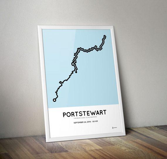 2016 causeway coast ultra marathon course print