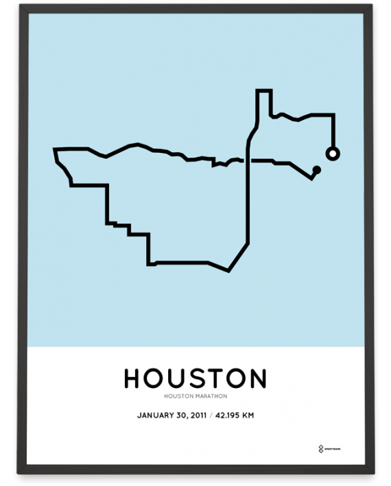 2011 Houston marathon course poster