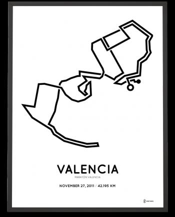 2011 Valencia marathon course poster