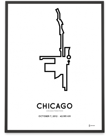 2012 Chicago marathon course print