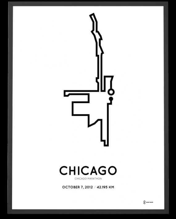 2012 Chicago marathon course print