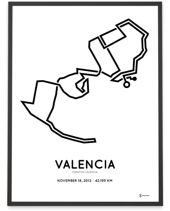 2012 Maraton Valencia course print