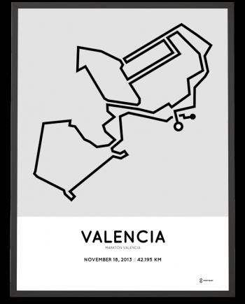 2013 Valencia marathon course print