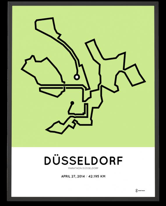 2014 marathon Dusseldorf course poster