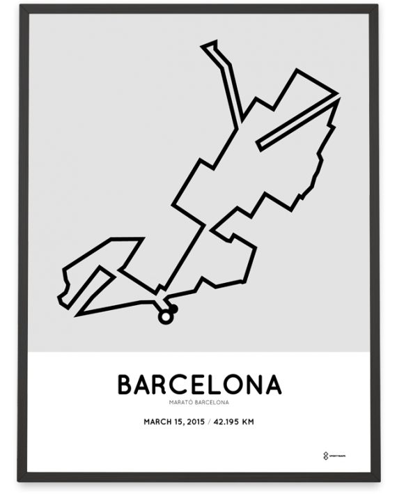2015 Barcelona marathon course print