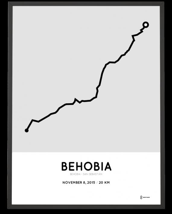 2015 Behobia San Sebastian course poster
